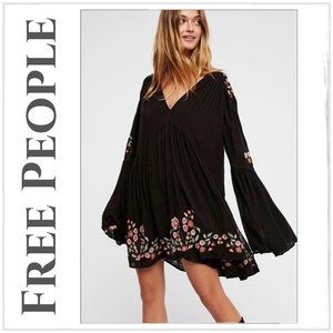 Free People Boho Black Te Amo Mini Dress/Tunic